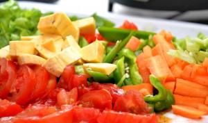 stir fry chopped veggies